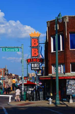 メンフィスのビールストリートからBBキングブルースクラブ 報道画像