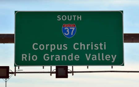 Corpus Christi Highwat 37 Exit Sign