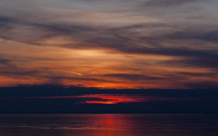 Sunrise over a frozen lake Stock Photo - 18151671