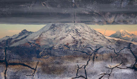 rupture: Volcano with rupture