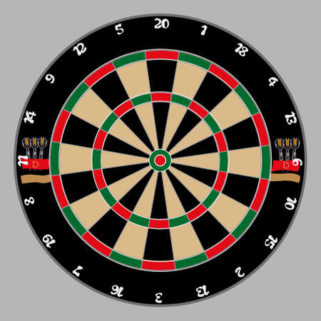 dartboard on a light gray background Stock Vector - 10018228