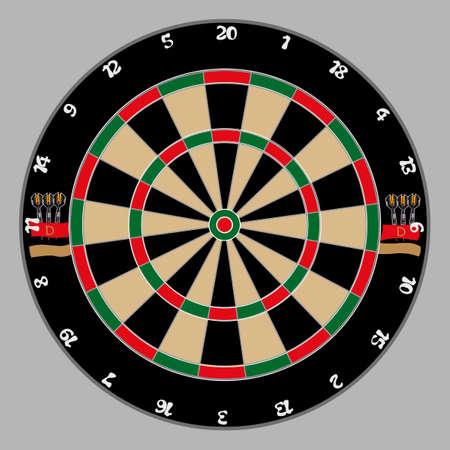 targets: dartboard on a light gray background Illustration