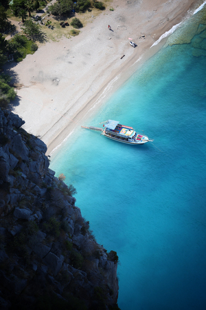 oludeniz: The beach of butterfly valley. Stock Photo