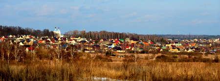 expanse: Rural landscape in spring.