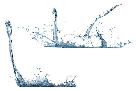 The liquid spattered on the isolated background Stock Photo