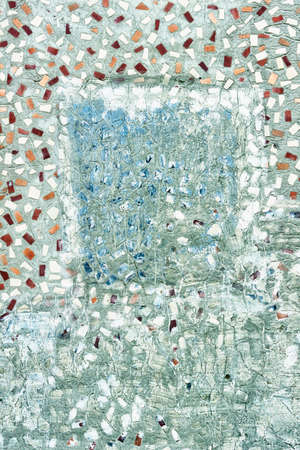 inclusions: Concrete surface with inclusions of broken tile