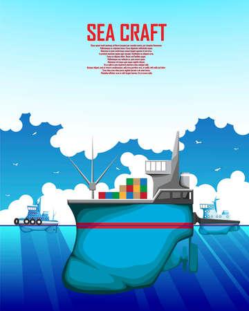 A poster depicting a merchant marine vessel.