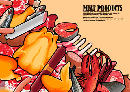 Meat assorted for the poster