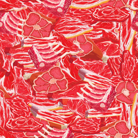 Pattern with a texture of meat Illustration