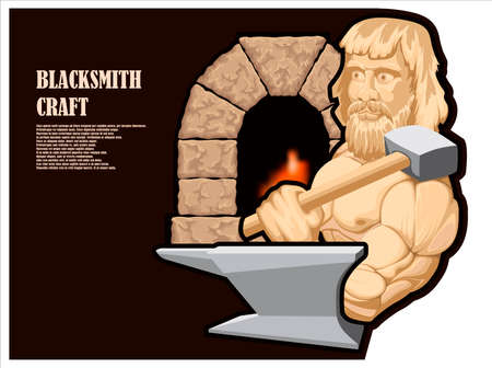 Illustration of a brutal blacksmith