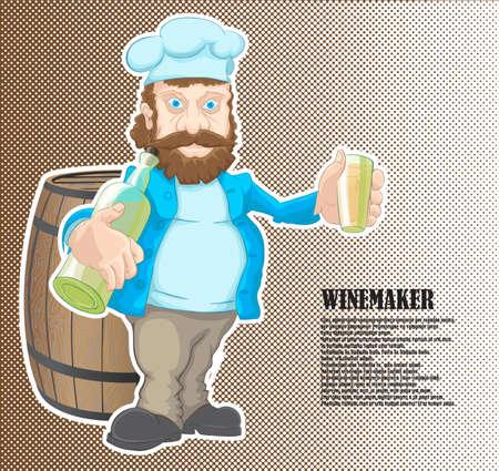 The winemaker gets drunk at work