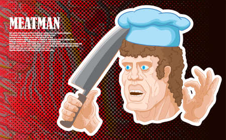 The butcher character, with a big knife