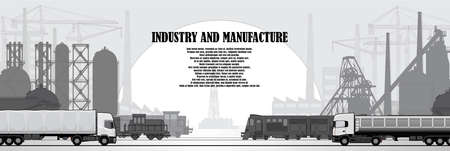 Industrial urban landscape factory infrastructure