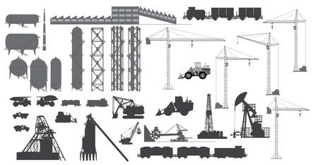 A set of industrial objects 向量圖像