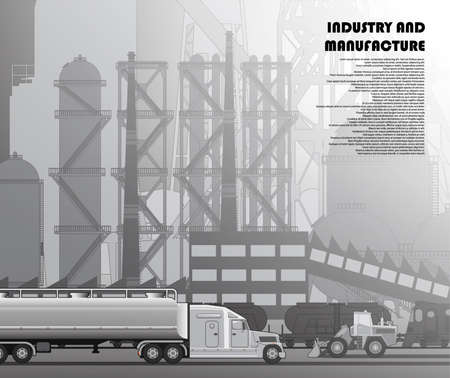 Industrial urban landscape of manufactories and factories