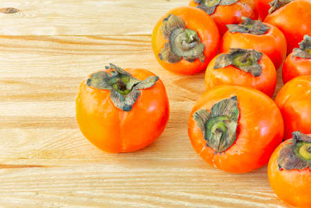 Persimmon ripe and appetizing fruit