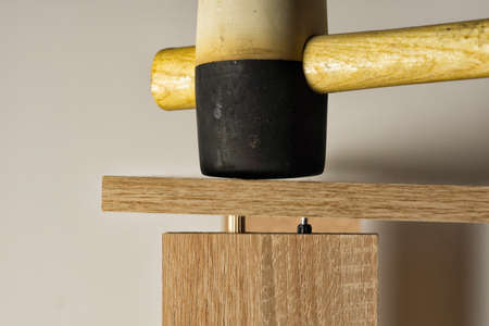Furniture assembled with the help of a mallet