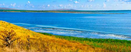 Estuaries, hills and steppes of the Taman Peninsula Stock Photo