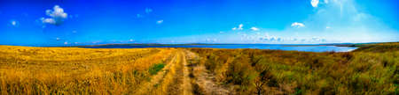 Views of the south of Russia, Krasnodar Territory, panorama Stock Photo