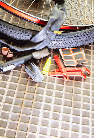 Accessories for gluing holey bicycle chambers