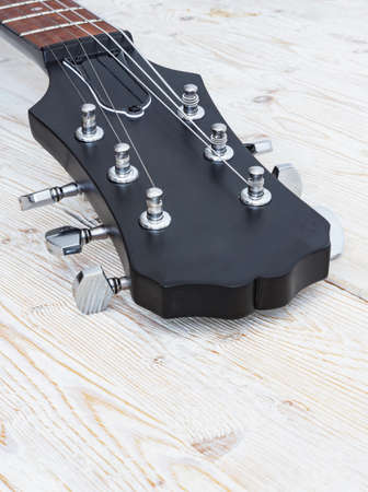 Fingerboard of a six-string guitar with steel strings