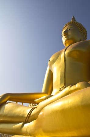 venerate: Big Buddha image in Thailand temple