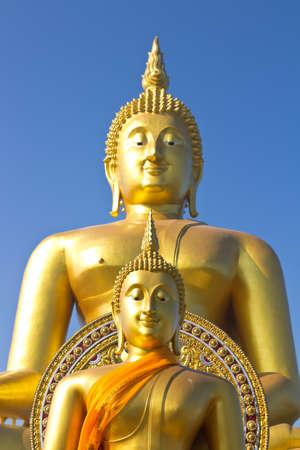 venerate: Buddha image in Wat Muang, Thailand