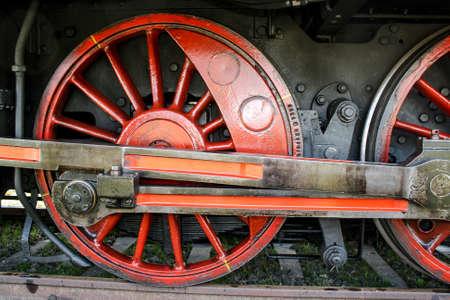 Wheels a historic steam, lock, railway, nostalgia Stock Photo