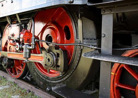 Wheels a historic steam Stock Photo