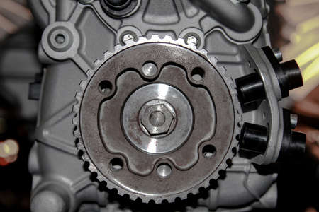 Detail of an engine, automobiles Stock Photo