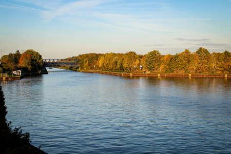Mittelland canal near Braunschweig Stock Photo