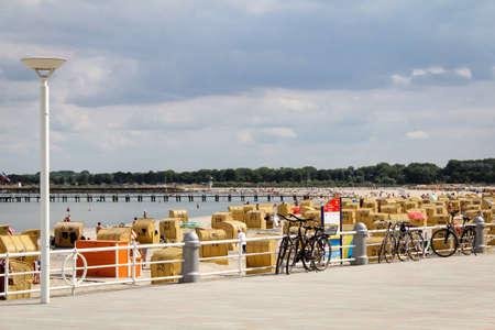 Beach Promenade on the Baltic Sea Stock Photo