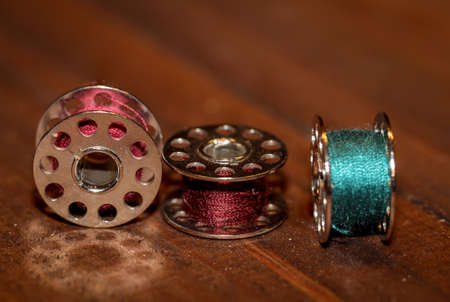 Sewing thread and thread spool for the sewing machine Stock fotó