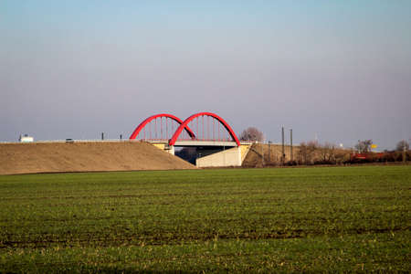 Bridge of B6n near Koethen Saxony Anhalt photographed from public space