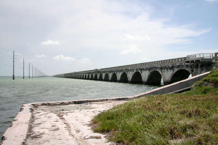 Overseas Highway Bridge at Florida Key, Islands Standard-Bild