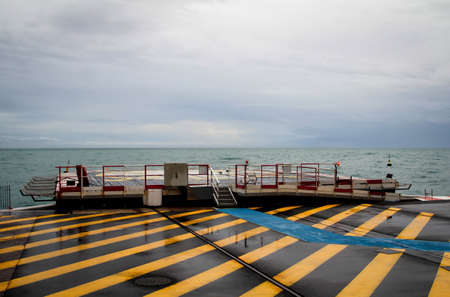 a heliport at the sea