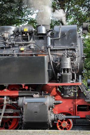 An old narrow gauge steam locomotive