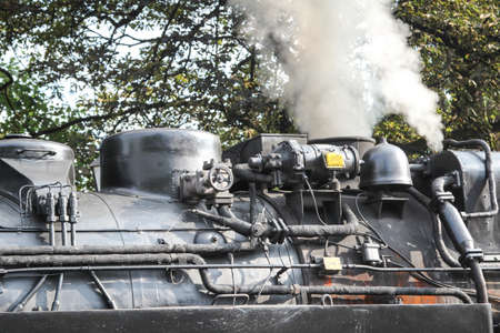 Details of an old narrow gauge steam locomotive