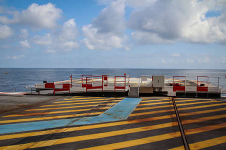 A helicopter landing pad by the sea Reklamní fotografie