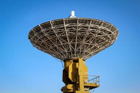 A radar dish for radio reception, air traffic control