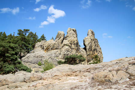 Resin, mountains, rocks of sandstone form a beautiful landscape