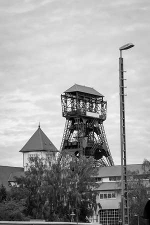 A mining tower in the mining area to extract coal