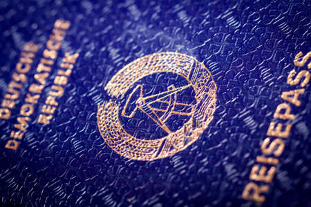 Former passport of the GDR, passport, travel documents