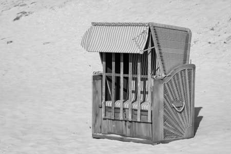 A beach chair that is locked stands on the beach of the Baltic Sea Reklamní fotografie