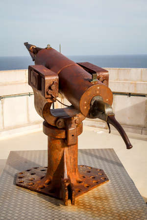 Close-up of a whalers rusty harpoon cannon