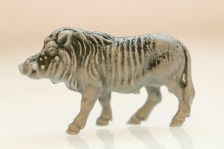 A warthog as a play figure, dates from the time of the GDR