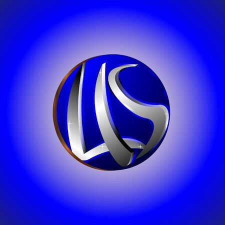 the letters LIS with a blue background circle. for a company and a business.
