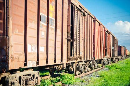 Russian rolling stock on railway terminal Stock Photo - 21488437