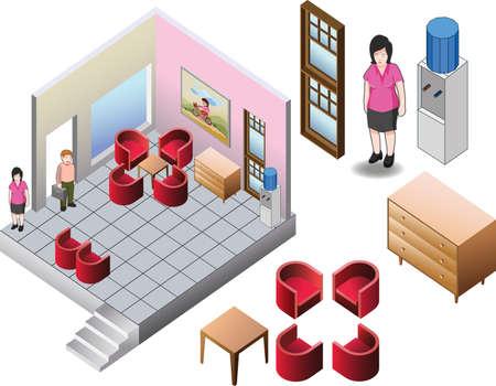 home plans: isometric of custom house interior