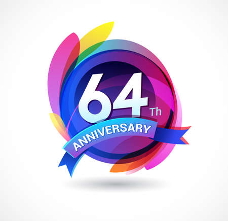 64 years anniversary logo
